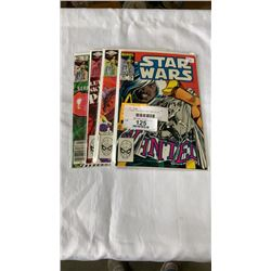 4  1980S STAR WAR COMICS #58, 62, 64, AND 79