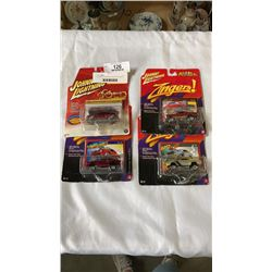 4 JOHNNY LIGHTENING COLLECTOR CARS 3  2 INGERS, CLASSIC GOLD