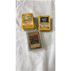 LOT OF POKEMON AND POCKET MONSTER CARDS AND YUGIOH CARDS