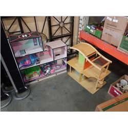 2 DOLL HOUSES AND ACCESSORIES