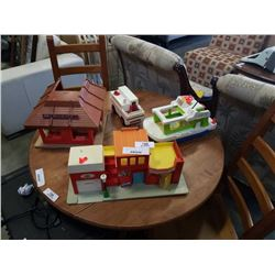 PLAYSKOOL AND FISHER PRICE TOYS - MCDONALDS, FIRE DEPARTMENT, BOAT AND RESCUE