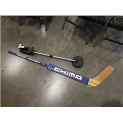 CHIMO GOALIE STICK AND METAL DETECTOR