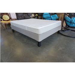 IKEA QUEENSIZE PLATFORM BED FRAME AND MATRESS