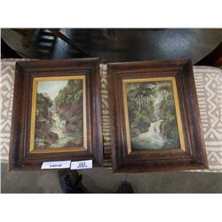2 FLORENCE LOARING ORIGINAL PAINTINGS ON CANVAS VINTAGE