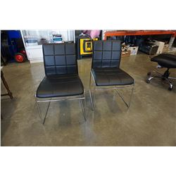 2 LEATHER LOOK CHAIRS