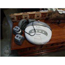 Irobot roomba discovery with charge cord, doocking station and 2 extended life virtual wall unitsv