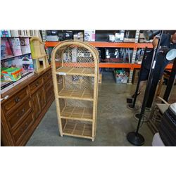 WICKER SHELF - APPROX 55 INCHES TALL