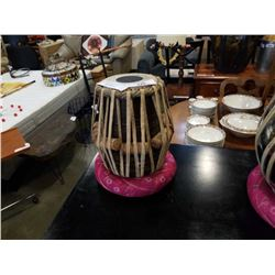 WOOD BODY DRUM AND STAND