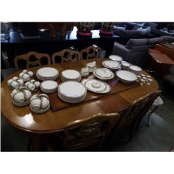 JOHNSON BROS PAREEK DINNER SET PLATES, BOWLS, MUGS, SERVING PLATTER AND MORE