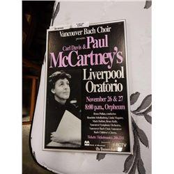 PAUL MCCARTNEY SHOW ADVERT