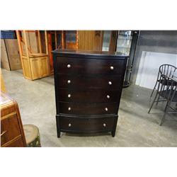 MODERN 5 DRAWER BOWED FRON CHEST OF DRAWERS
