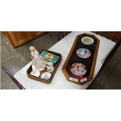 PRINCESS DIANA DOLL, ROYALTY COLLECTABLES AND 3 LIMITED EDITION COLLECTOR PLATES - FRAMED