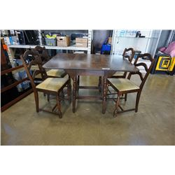 VINTAGE DROPLEAF DINING TABLE WITH 4 CHAIRS