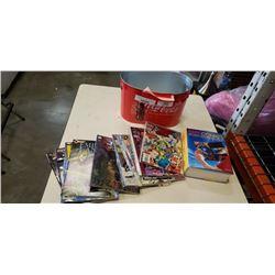 Coca cola tin with 15 collectible comics comic hardcover