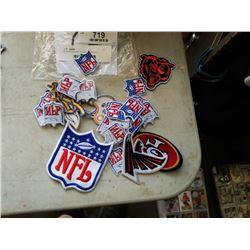 30 VARIOUS NFL TEAM AND JERSEY PATCHES VALUED $9-$15 EACH