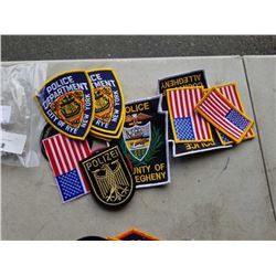 LOT OF 15 VARIOUS POLICE UNIFORM PATCHES - RETAIL $8-$19 EACH