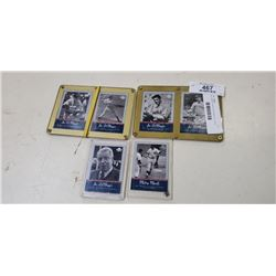 Lot of plastic cased joe dimaggio and mickey mantle cards