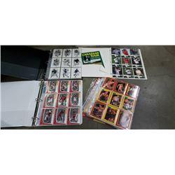 3 Binders of NBA hall of famers, WCW, Baseball and PGA cards