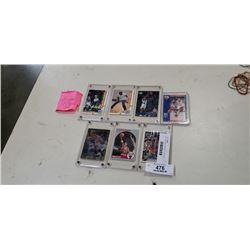 Lot of plastic cased NBA HOF and Scottie Pippen and Micheal Jordan
