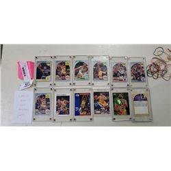 Lot of plastic cased NBA star laker cards ,HOF and allstar cards