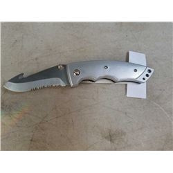New stainless folding knife with hook