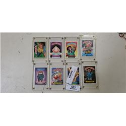 Lot of plastic cased garbage pail kids cards