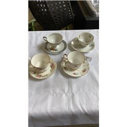 ROYAL ALBERT, ELIZABETHAN, ARZBERG BAVARIS AND W GERMANY CHINA CUPS AND SAUCERS