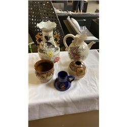 LOT OF PITCHERS AND VASES