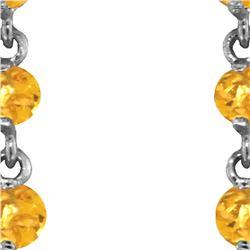 Genuine 23 ctw Citrine Earrings 14KT White Gold - REF-50P6H