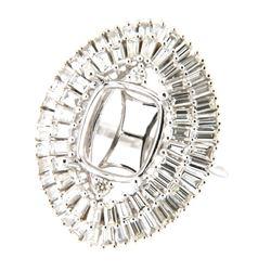 2.37 CTW Diamond Semi Mount Ring 14K White Gold - REF-244F4N