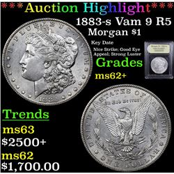 ***Auction Highlight*** 1883-s Vam 9 R5 Morgan Dollar $1 Graded Select Unc BY USCG (fc)