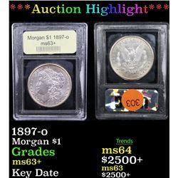 ***Auction Highlight*** 1897-o Morgan Dollar $1 Graded Select+ Unc By USCG (fc)
