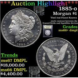 ***Auction Highlight*** 1885-o Morgan Dollar $1 Graded GEM++ DMPL BY USCG (fc)