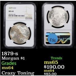 NGC 1879-s Morgan Dollar $1 Graded ms64 By NGC