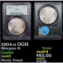 PCGS 1904-o OGH Morgan Dollar $1 Graded ms63 By PCGS