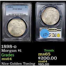 PCGS 1898-o Morgan Dollar $1 Graded ms64 By PCGS