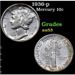 1936-p Mercury Dime 10c Grades Select AU