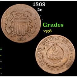 1869 Two Cent Piece 2c Grades vg, very good