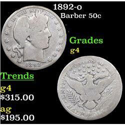 1892-o Barber Half Dollars 50c Grades g, good