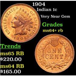 1904 Indian Cent 1c Grades Choice+ Unc RB