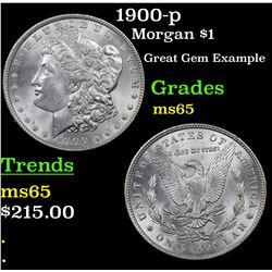 1900-p Morgan Dollar $1 Grades GEM Unc