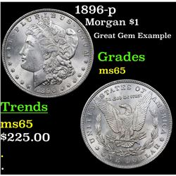 1896-p Morgan Dollar $1 Grades GEM Unc