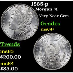 1885-p Morgan Dollar $1 Grades Choice+ Unc
