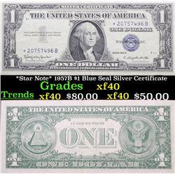 *Star Note* 1957B $1 Blue Seal Silver Certificate Grades xf