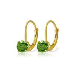 Genuine 1.0 ctw Diamond Anniversary Earrings 14KT Yellow Gold - REF-204K6V