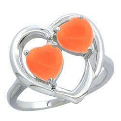 0.01 CTW Diamond Ring 10K White Gold - REF-23V3R