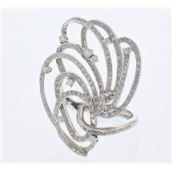 1.78 CTW Diamond Ring 18K White Gold - REF-232H4M