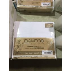Bamboo Twin Size Super Soft Solid Sheet Set