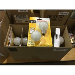 Case of 6 Sylvania 25W 2-Pack Bulbs