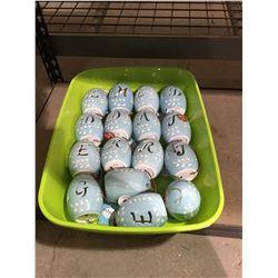 Bin of Easter Light Up Monogram Eggs